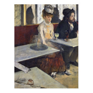 In a Cafe or The Absinthe c 1875-76 Post Card