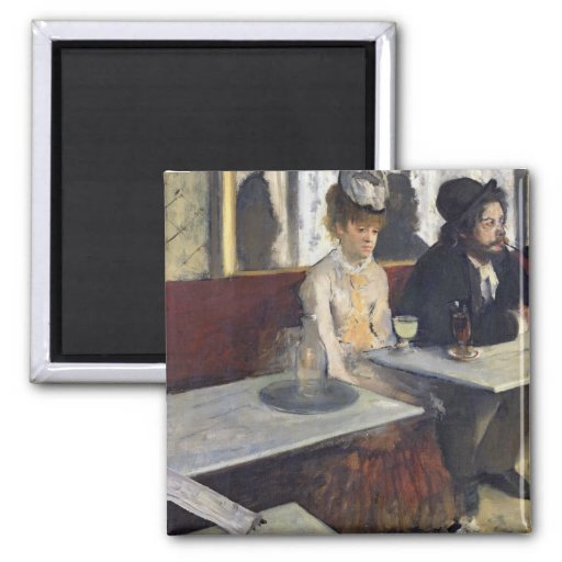 In a Cafe, or The Absinthe, c.1875-76 Square Magnet