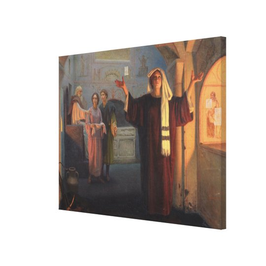 In a catacomb, 1900 canvas print