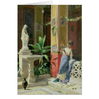 In a Courtyard in Pompeii, 1878 Card