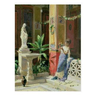 In a Courtyard in Pompeii, 1878 Postcard
