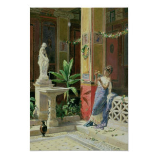 In a Courtyard in Pompeii, 1878 Poster