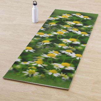 In a Dreamy Field of Chamomile Yoga Mat