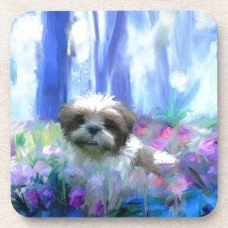 in a flowerbed jpg beverage coasters