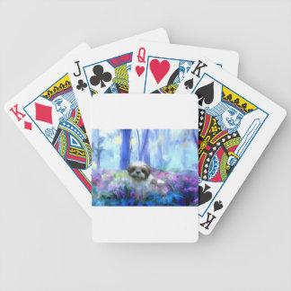 in a flowerbed jpg deck of cards
