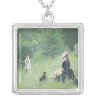 In a Park, c.1874 Silver Plated Necklace