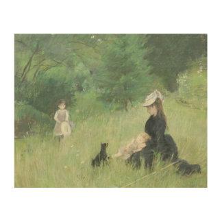 In a Park, c.1874 Wood Prints