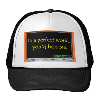 In a perfect world, you'd be a pie. trucker hats