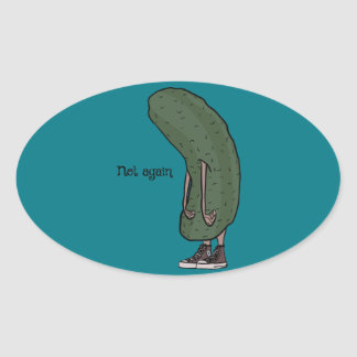 In A Pickle Oval Sticker