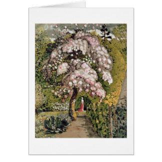 In a Shoreham Garden (w/c) Card