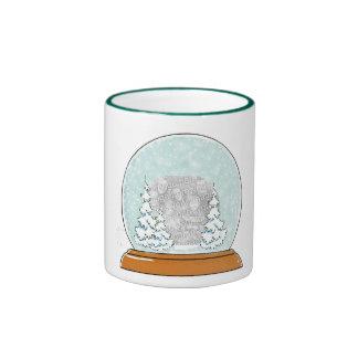 In a snow globe ringer mug
