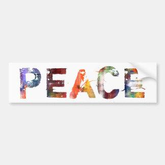 In A Word: Peace Bumper Sticker