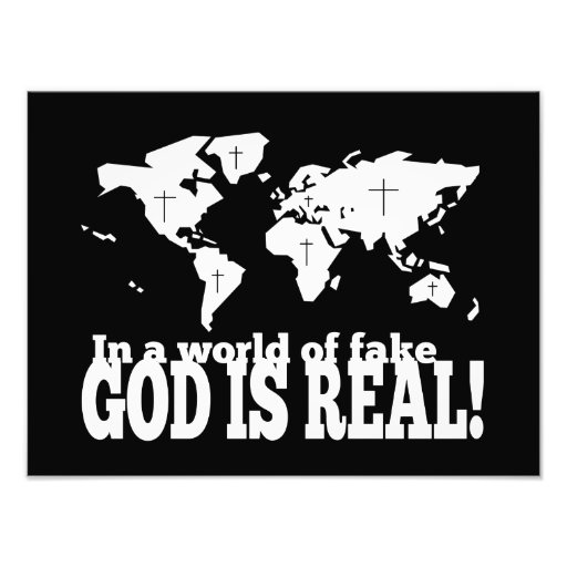 In a World of Fake God is Real Christian Photo