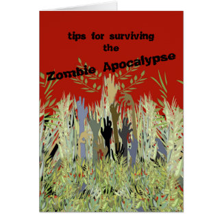 In A Zombie Garden Greeting Card