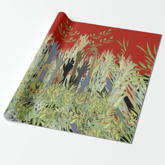 In A Zombie Garden Wrapping Paper