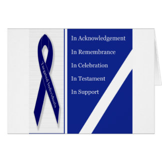 In Acknowledgement In Remembrance In Celebration I Greeting Card