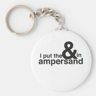 & in Ampersand Key Ring