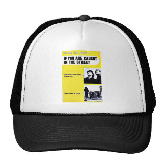 In An Air Raid, If You Are Caught In The Street Mesh Hat