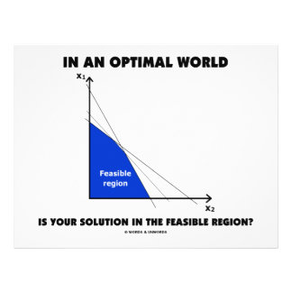 In An Optimal World Is Your Solution Feasible? Custom Flyer