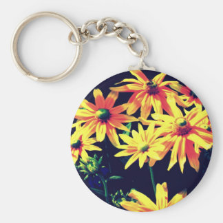 In artificial light key chains