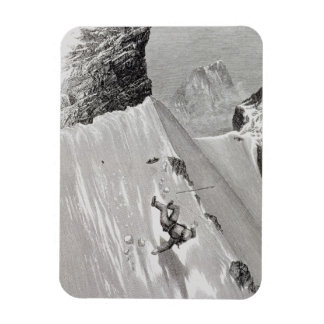'In Attempting to Pass the Corner I Slipped and Fe Rectangular Photo Magnet