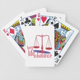 In Balance Bicycle Playing Cards
