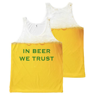 In Beer We Trust Funny Slogan All-Over Print Tank Top