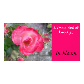 In Bloom - notecard Photo Card Template