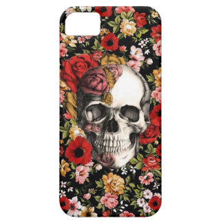 In bloom, retro floral pattern with skull case for the iPhone 5