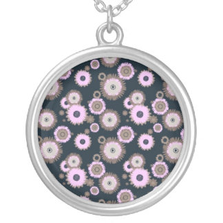In Bloom Round Pendant Necklace