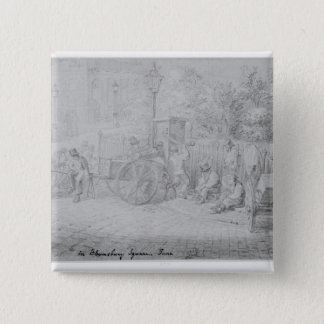 In Bloomsbury Square during the heat wave, 1828 15 Cm Square Badge