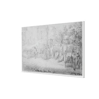In Bloomsbury Square during the heat wave, 1828 Canvas Print