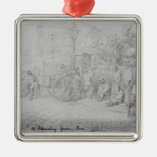 In Bloomsbury Square during the heat wave, 1828 Christmas Ornament