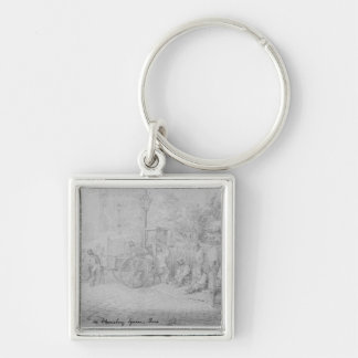 In Bloomsbury Square during the heat wave, 1828 Key Ring