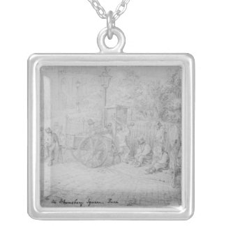In Bloomsbury Square during the heat wave, 1828 Silver Plated Necklace