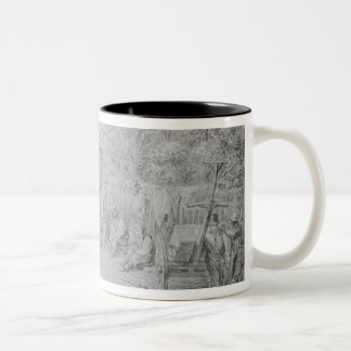 In Bloomsbury Square during the heat wave, 1828 Two-Tone Coffee Mug