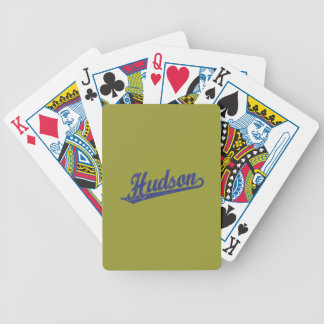 in Blue distressed Playing Cards