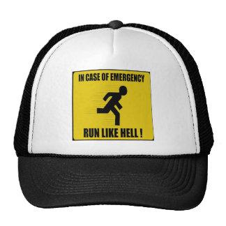 In Case of Emergency Run Like Hell Cap