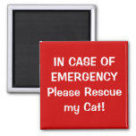 In Case of Emergency Square Magnet