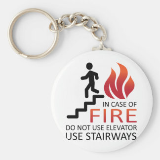 In Case of Fire Basic Round Button Key Ring