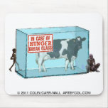 In Case of Hunger Break Glass by Colin Carr-Nall Mousepads