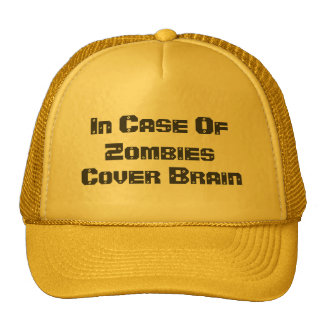 In Case Of Zombies, Cover Brain Trucker Hat