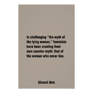 """In Challenging """"The Myth Of The Lying Woman"""" ... Poster"""