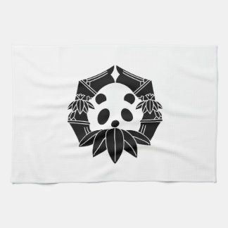 In change bamboo circle panda tea towel