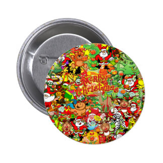 In Christmas melt into the crowd and enjoy it 6 Cm Round Badge
