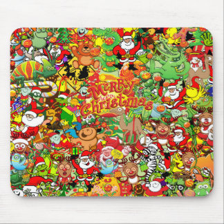 In Christmas melt into the crowd and enjoy it Mouse Pad