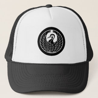 In circle circle of crane trucker hat