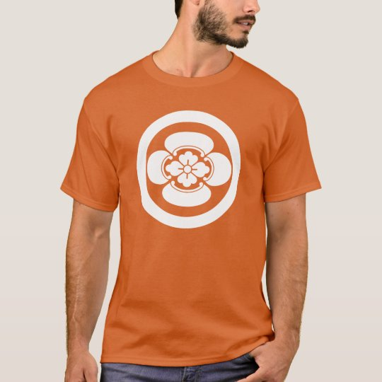 In circle Japanese quince T-Shirt