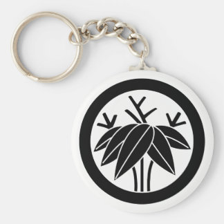 In circle root bamboo grass key ring