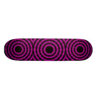 In Circles (Pink Version) Custom Skate Board